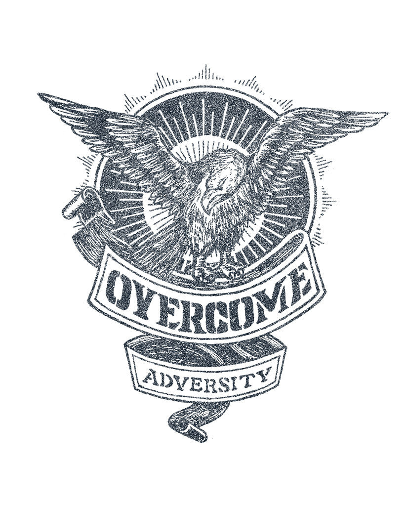 Overcome Adversity Unisex Quarter Sleeve Baseball Tee