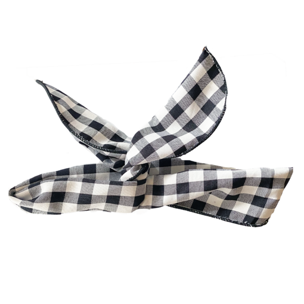 PICNIC WIRE TIE IN BLACK by Headbands of Hope