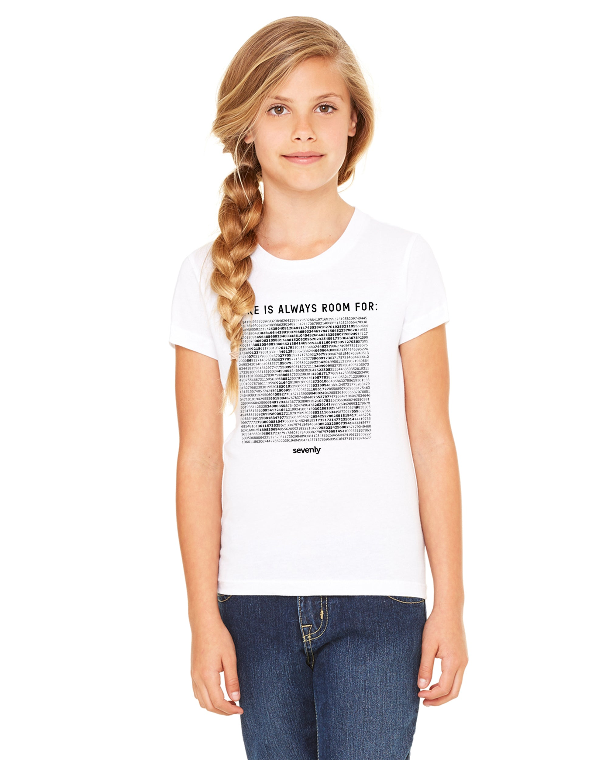 PI (Black) Girls Premium Short Sleeve Crew
