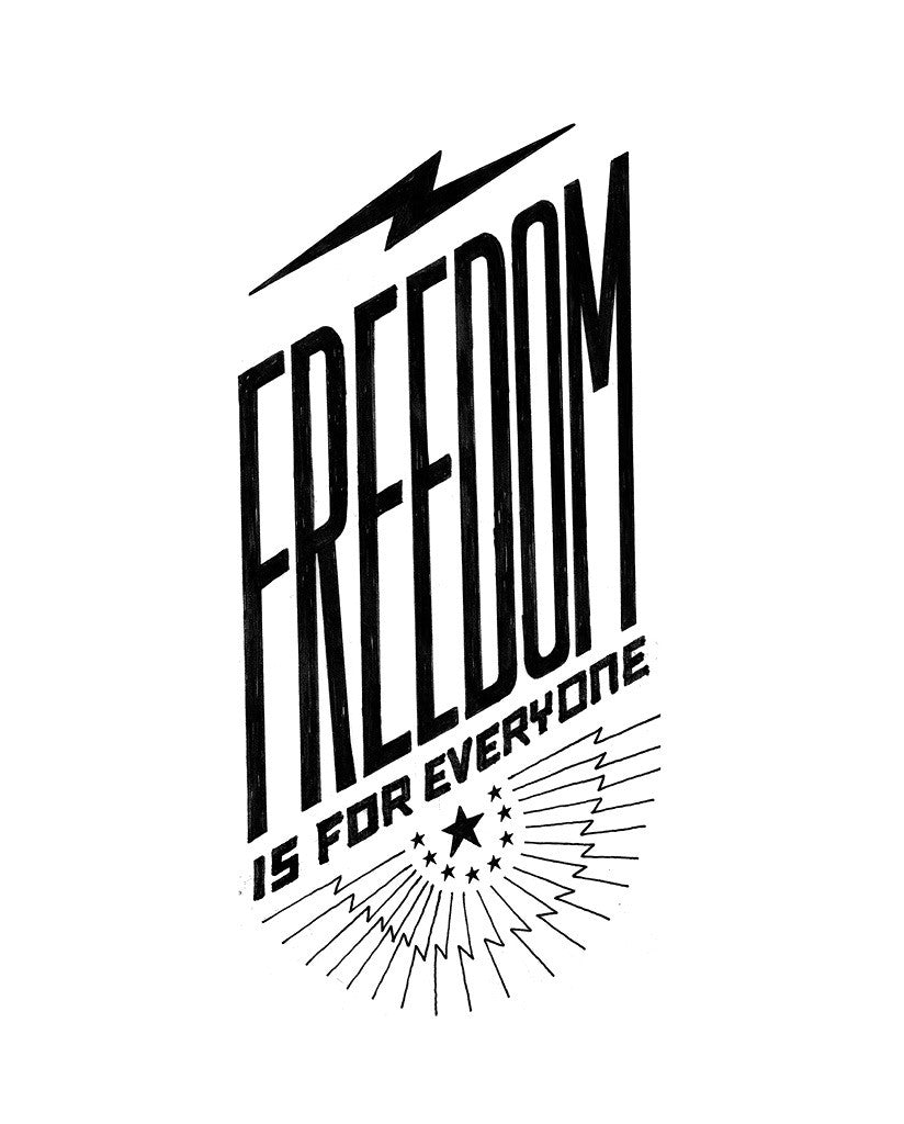 Freedom Is For Everyone Triblend Short Sleeve Tee