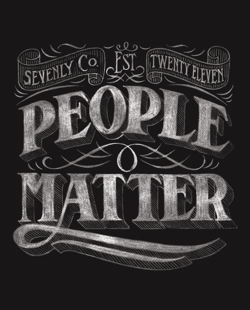 People Matter Mens Baseball Tee