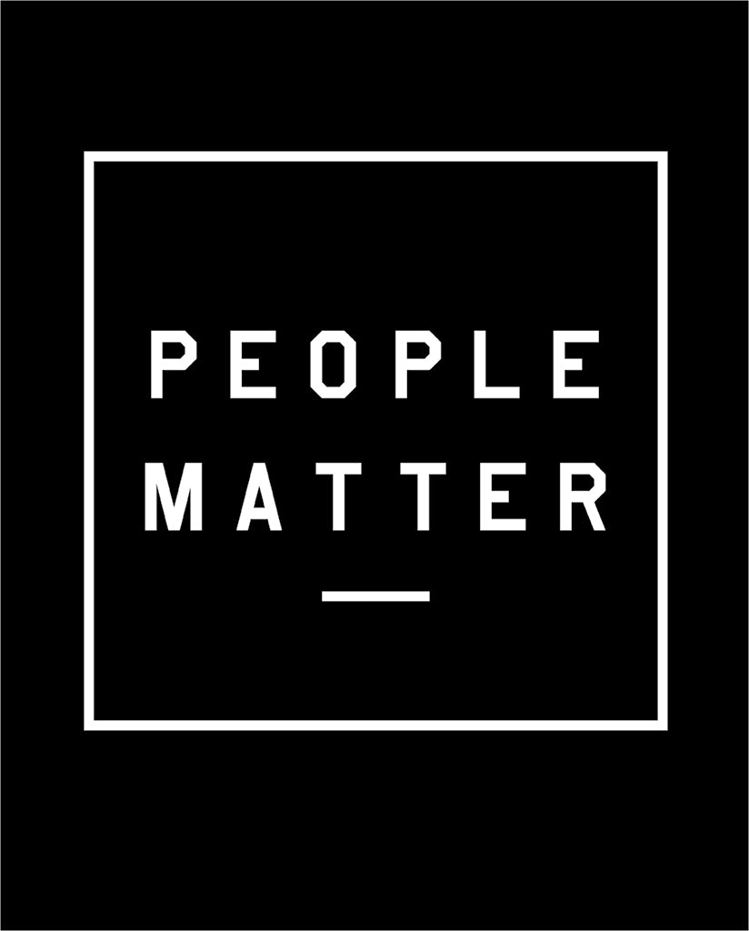 PEOPLE MATTER Unisex Black Vintage Tee