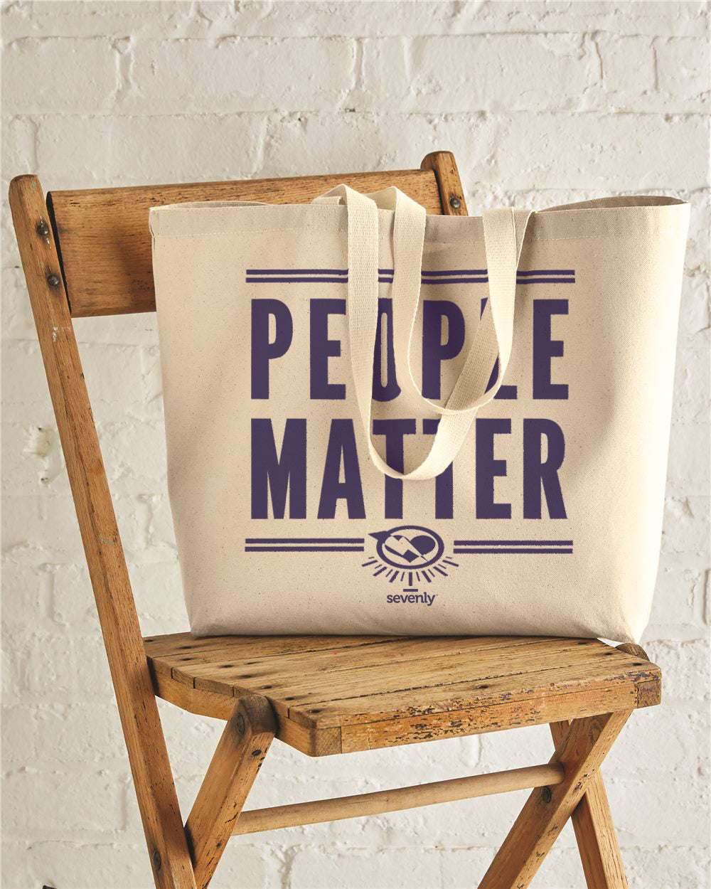People Matter Jumbo Cotton Canvas Tote Bag