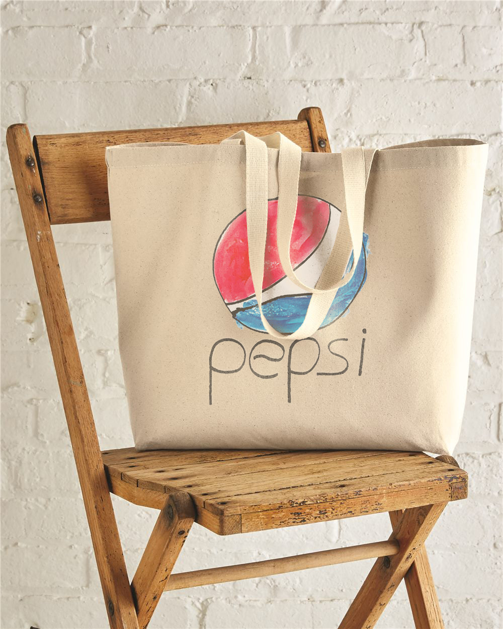 PEPSI Jumbo Cotton Canvas Tote Bag