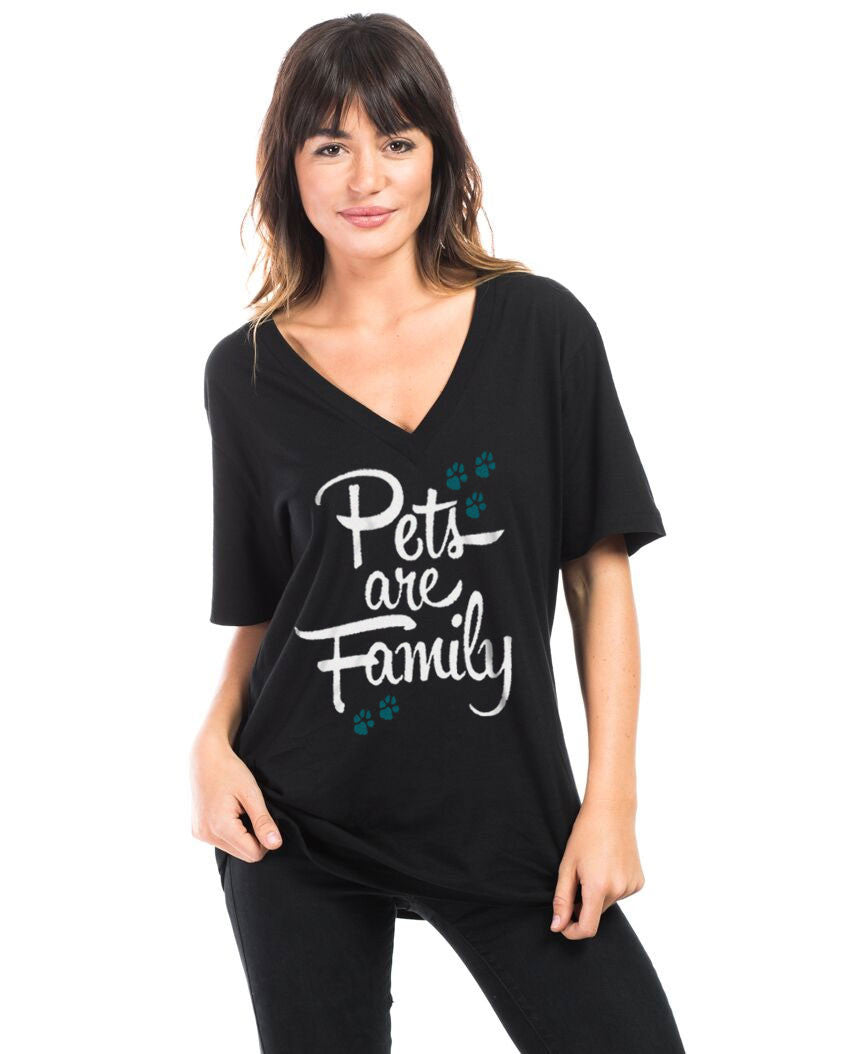 Pets Are Family Flowy V Neck