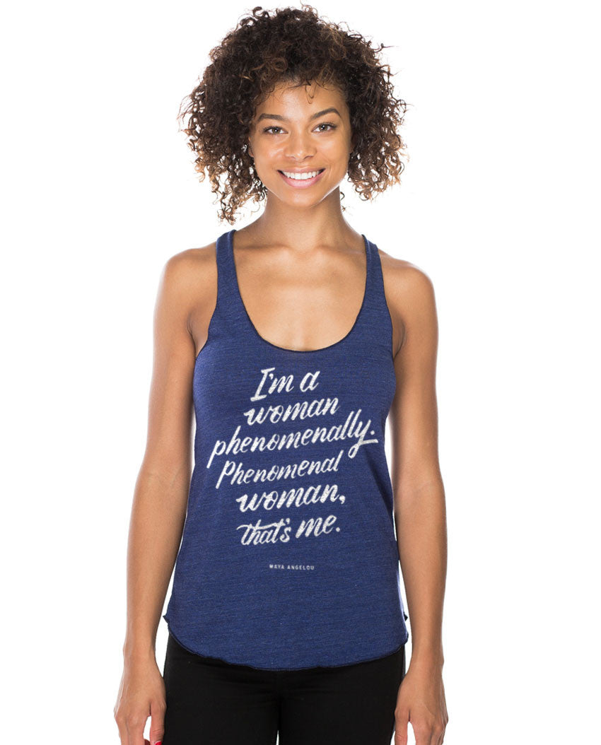 Phenomenal Woman Fitted Racerback Tank