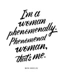 Phenomenal Woman Womens Muscle Tank