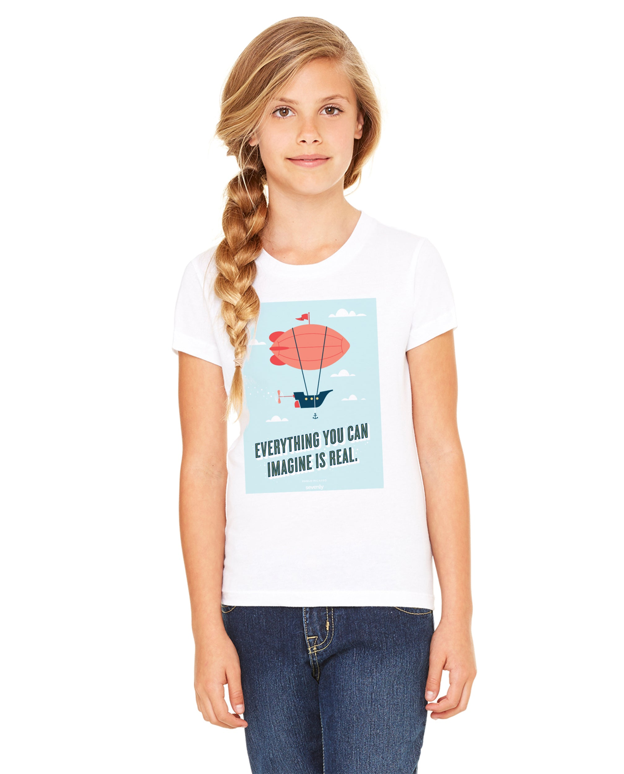 Picasso Airship Girls Premium Short Sleeve Crew