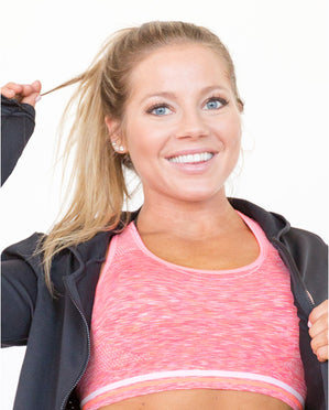 Womens Coral Low Impact Sports Bra