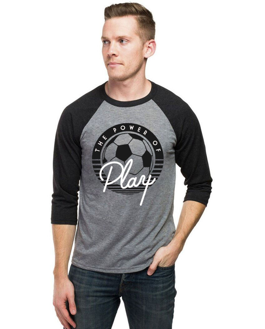 Power Of Play Unisex Baseball Tee