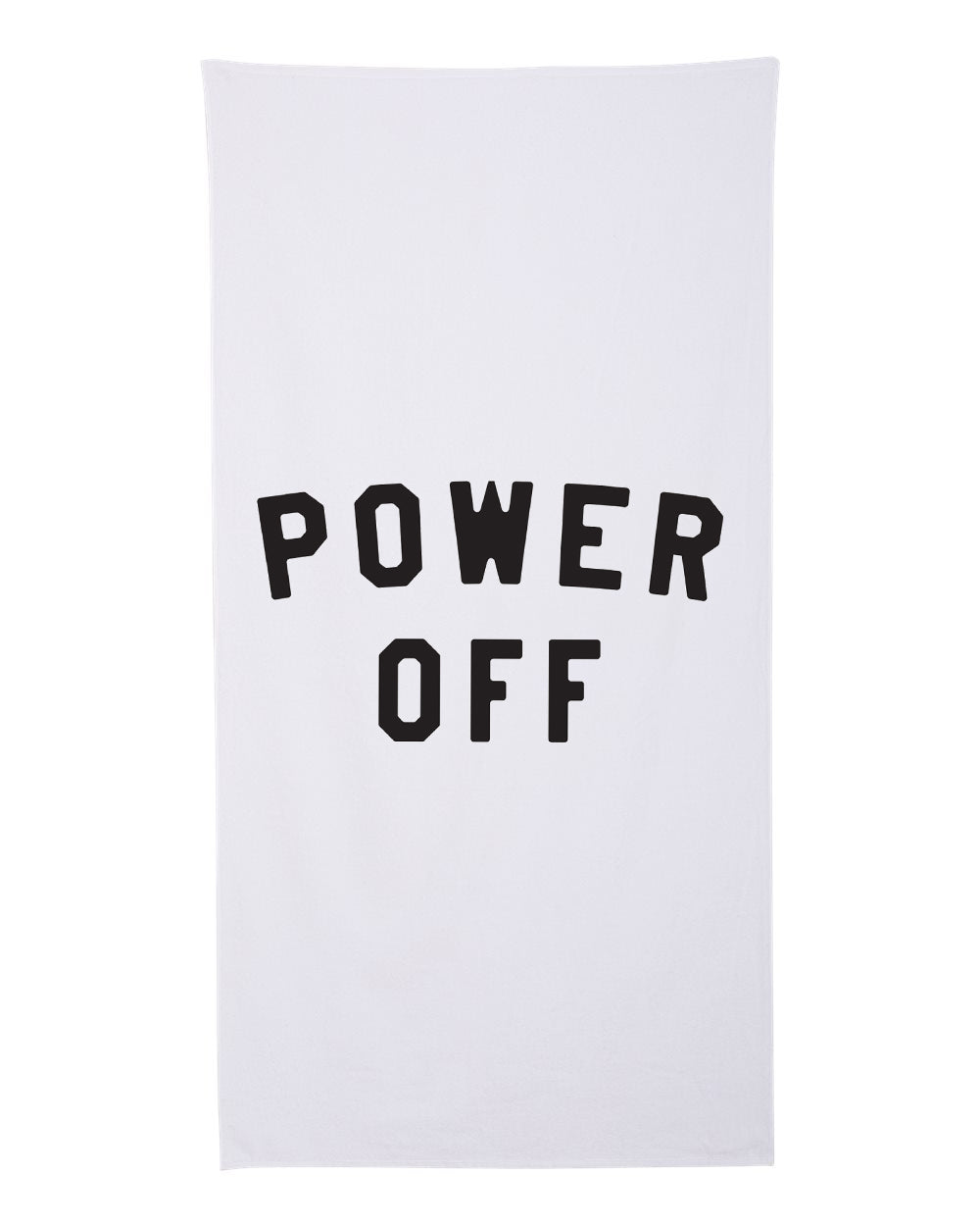 Power Off Premium Cotton Velour Beach Towel