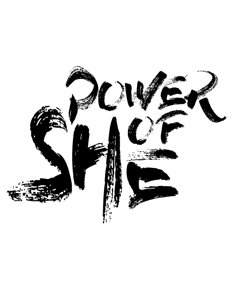 POWER OF SHE Unisex White Short Sleeve Tee