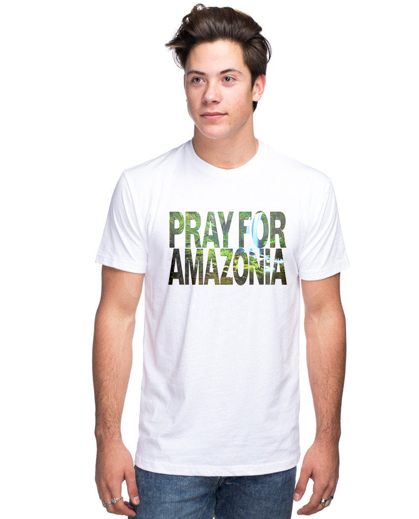 Pray For Amazonia Men's Premium Unisex Triblend Short Sleeve Tee