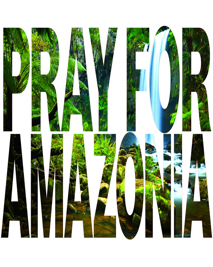 Pray For Amazonia Women's White Flowy Vneck