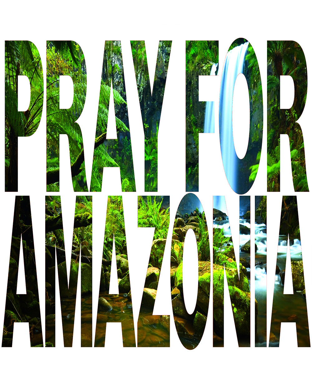Pray For Amazonia Women's Premium Flowy Raglan
