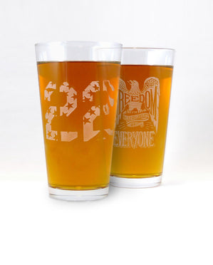 2 Pack Hand-Etched, Limited Edition Glassware (You Pick)