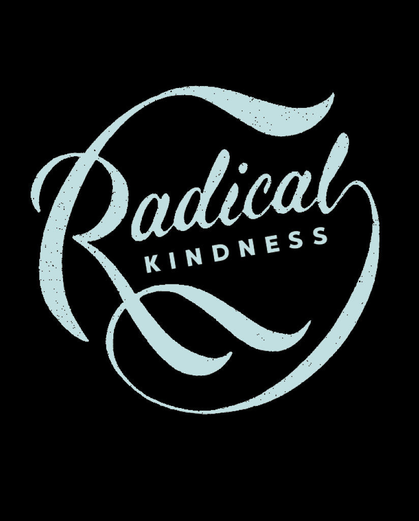 RADICAL KINDNESS Womens Black Flowy Raglan
