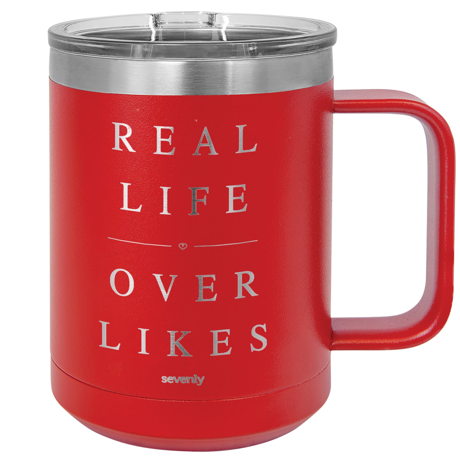 Real Life Over Likes Insulated Mug Drinkware