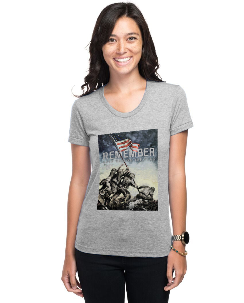 REMEMBER Keep Raising The Flag Womens Premium Tee