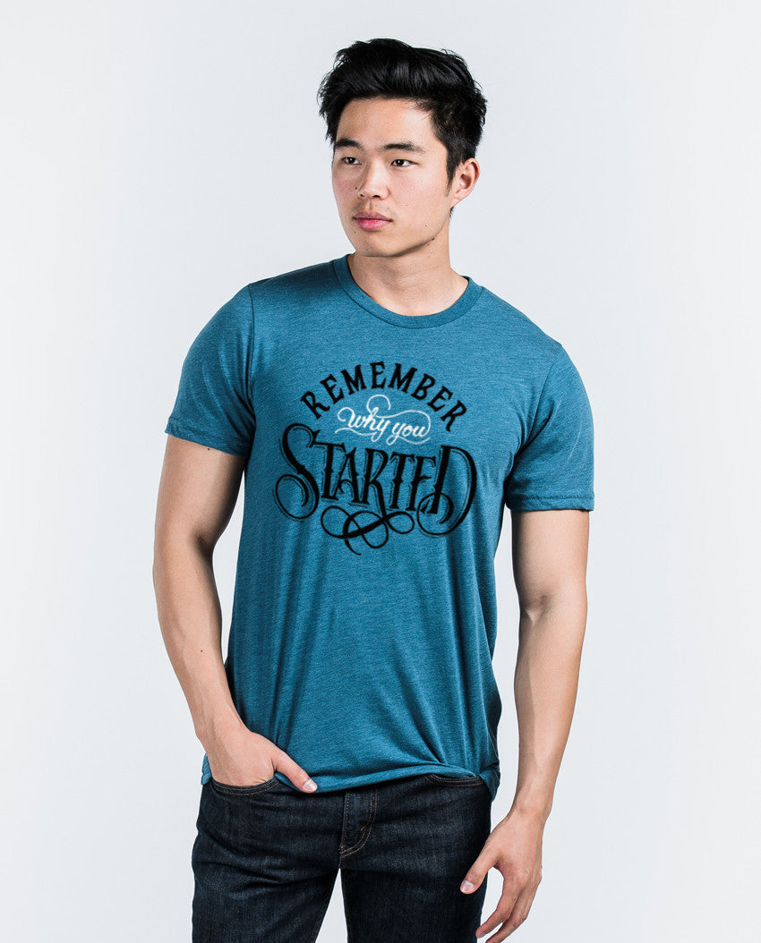 Remember Why You Started Unisex Triblend Short Sleeve Tee