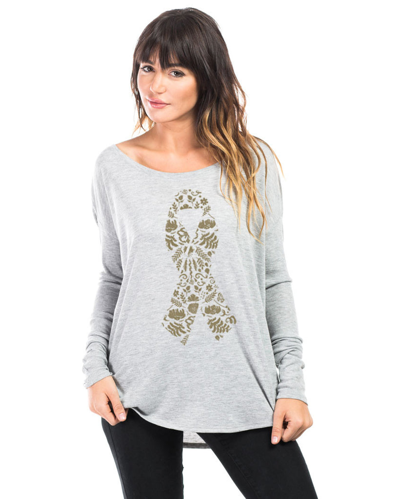 Ribbon Flowy Long Sleeve Tee