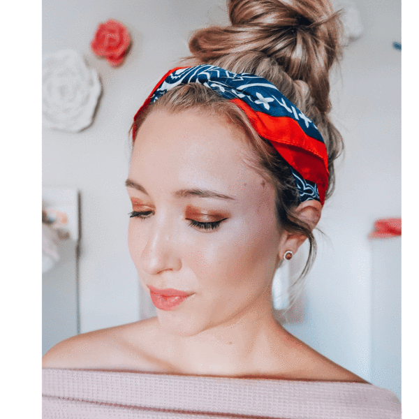Rodeo Headscarf in Red, White, & Blue by Headbands of Hope
