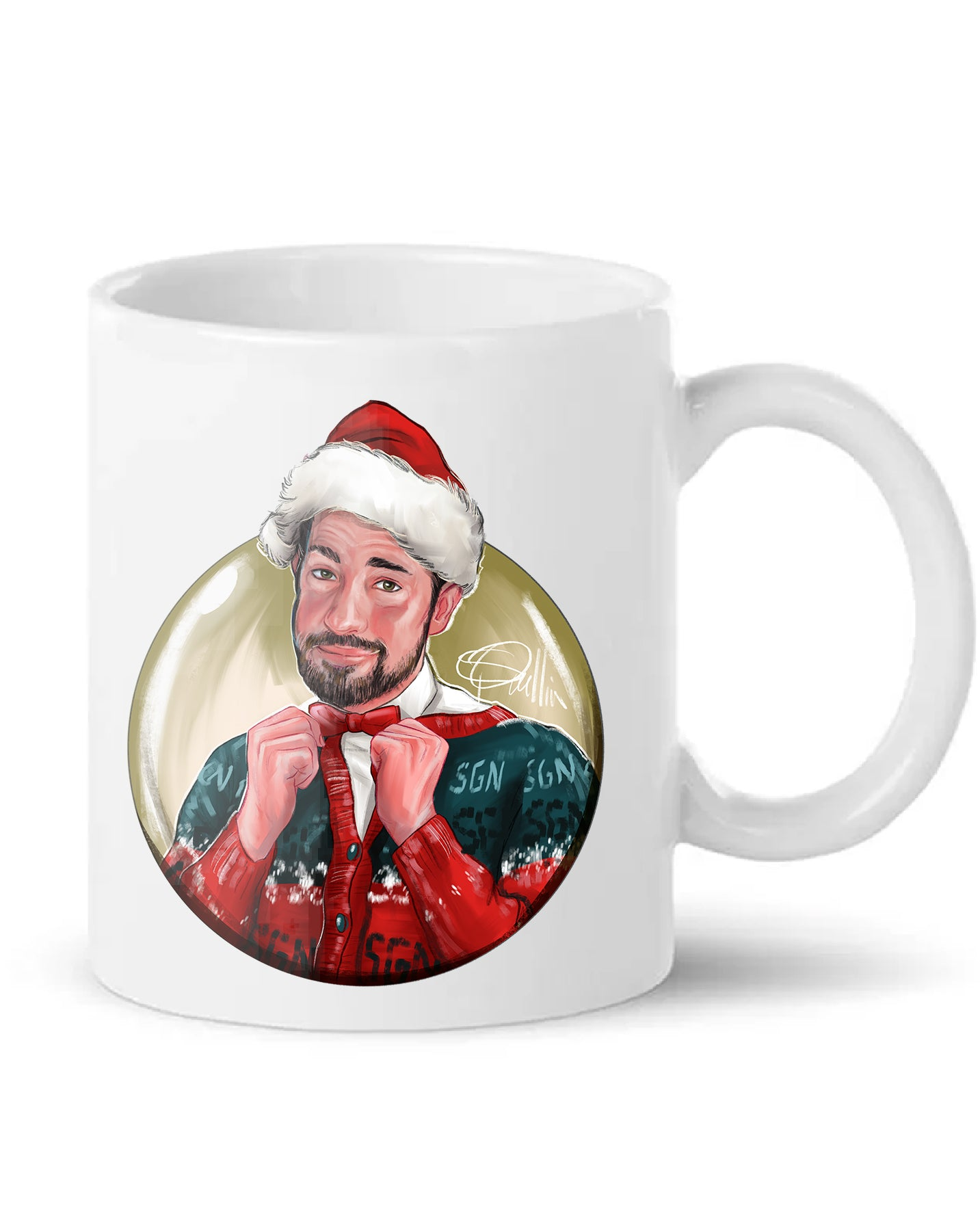 SGN John Christmas Sweater Art Coffee Mug