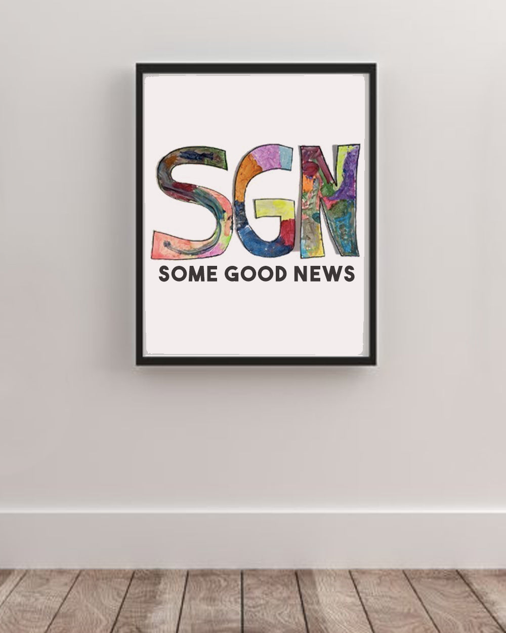 SGN Some Good News Logo Art Poster