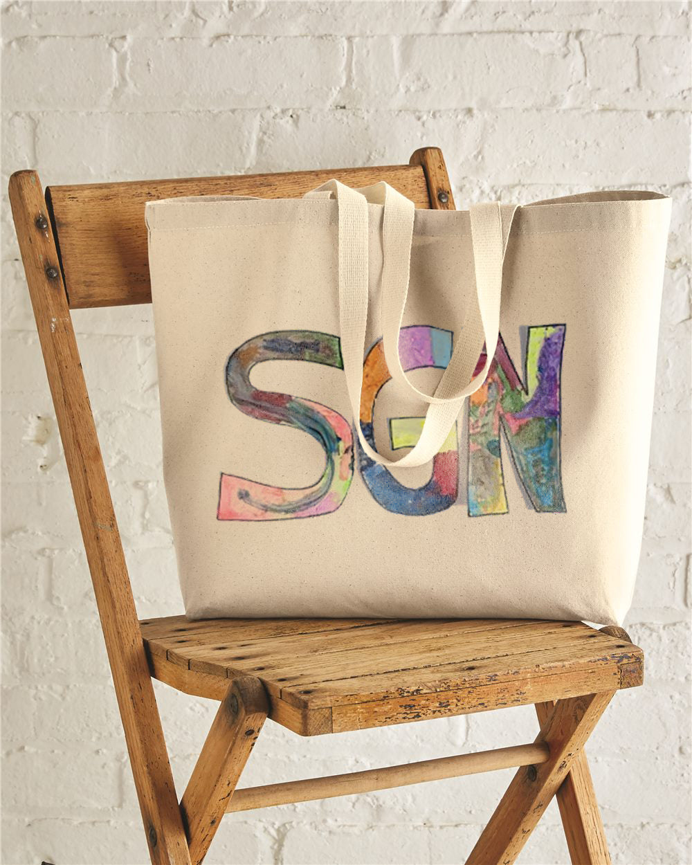 SGN Some Good News Logo Art Jumbo Tote