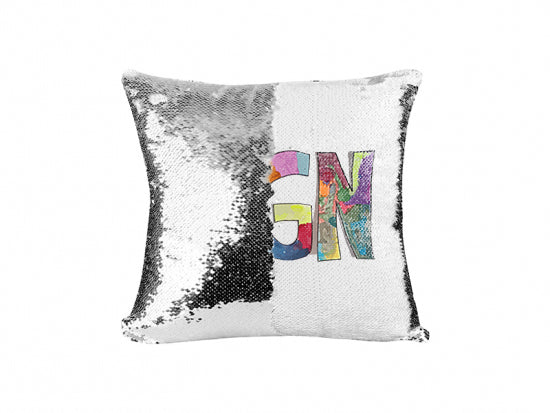 SGN Some Good News Logo Reversible Sequin Pillow
