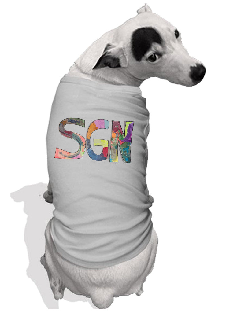 SGN Some Good News Logo Art Dog Tee