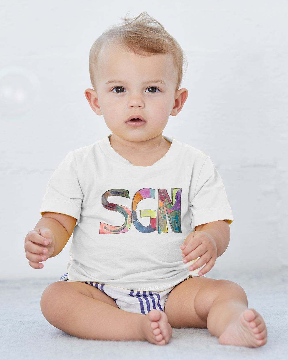 SGN Some Good News Logo Art Baby Tee
