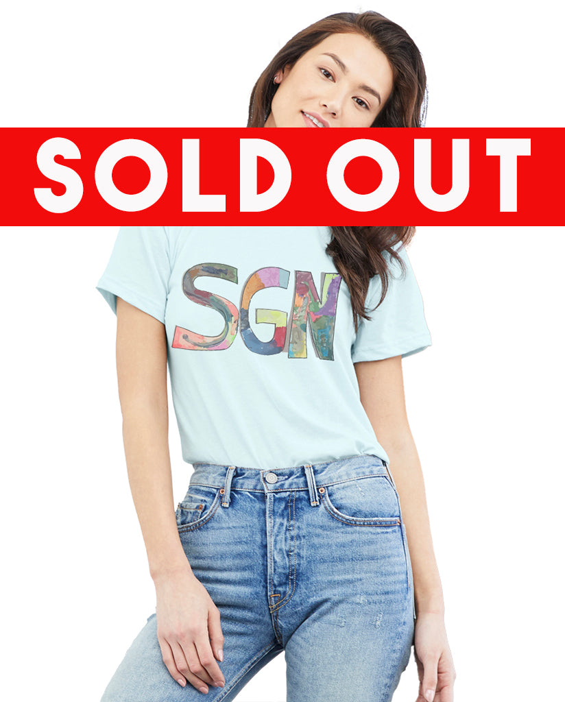 SGN Some Good News Logo Art Adult Tee