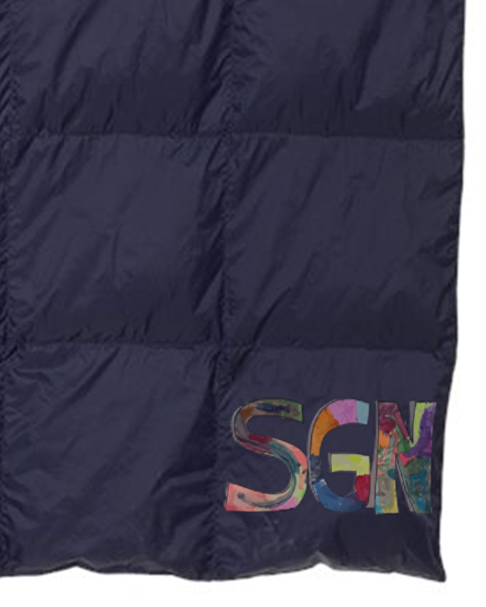 SGN Some Good News Logo Weatherproof Down Puffer Packable Blanket
