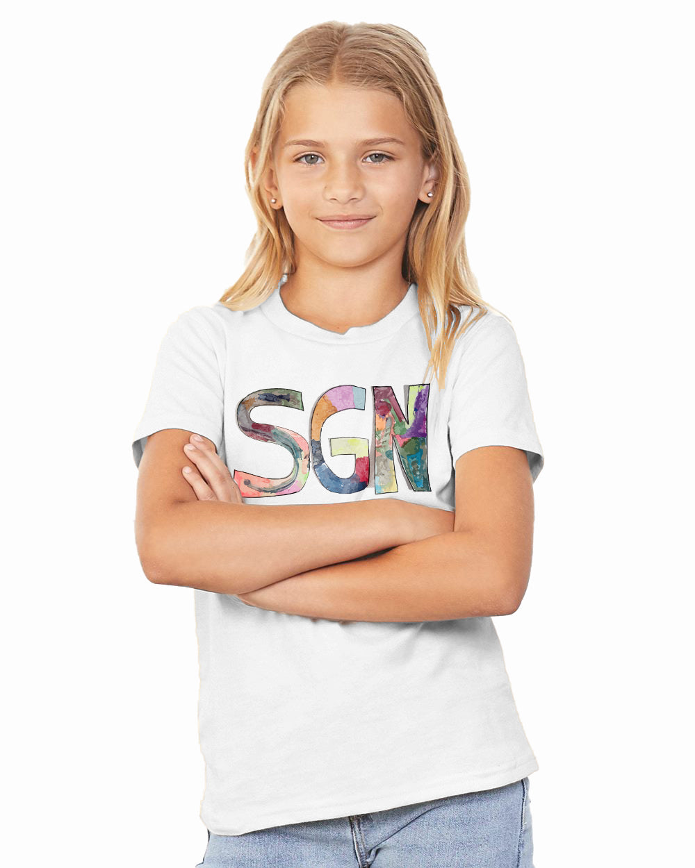 SGN Some Good News Logo Art Kids Tee