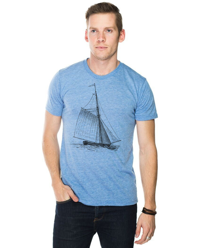 Sail Boat Fitted Tee