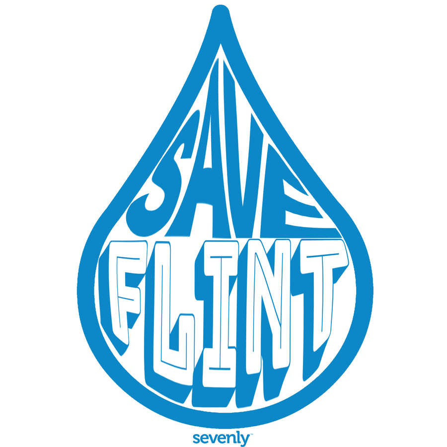 SAVE FLINT WATER - 17 ounce Water Bottle