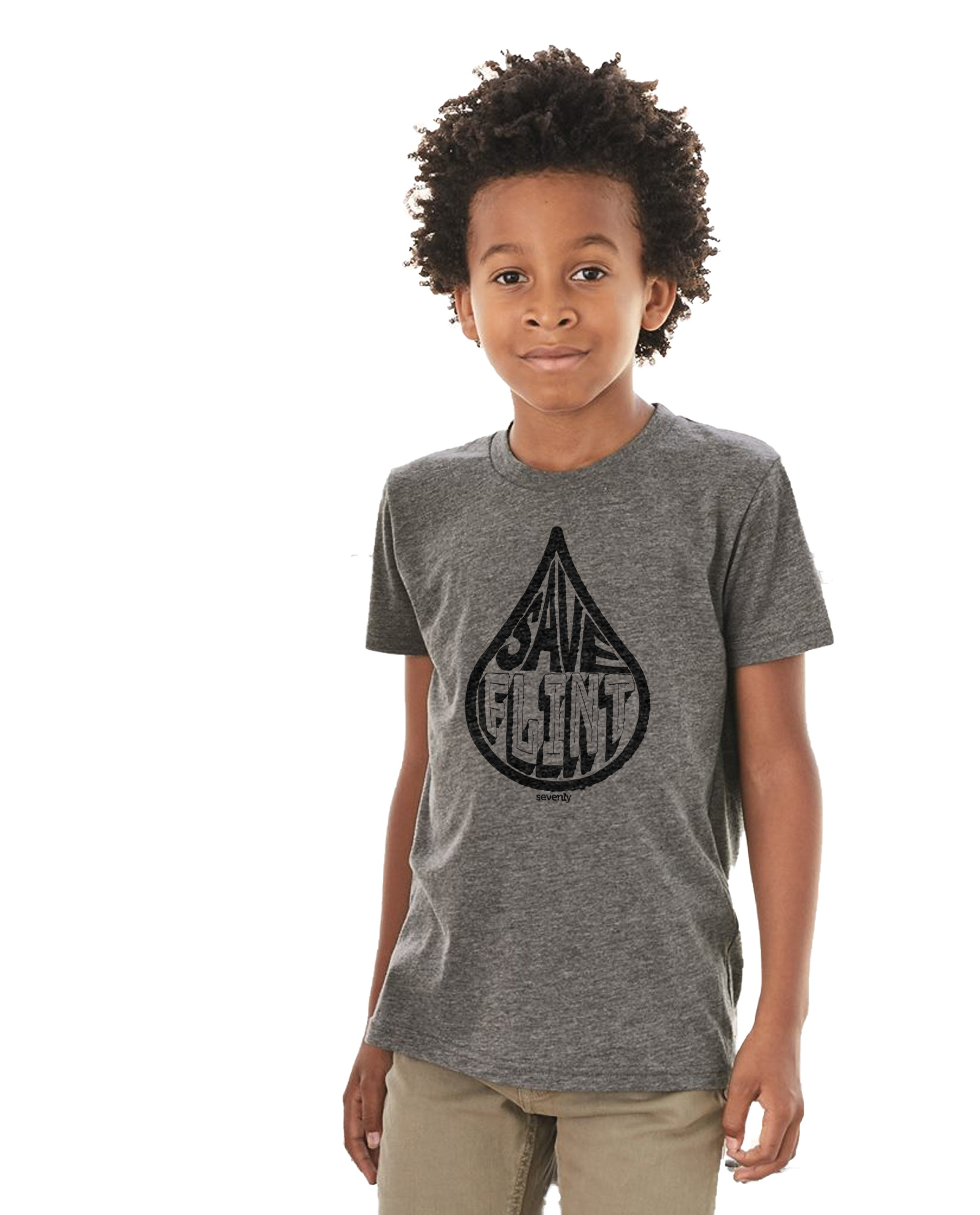 Save Flint Water - Boy's Premium Short Sleeve Crew