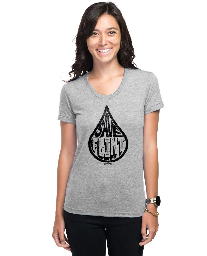 Save Flint Water - Women's Triblend Slim Fit Short Sleeve Tee