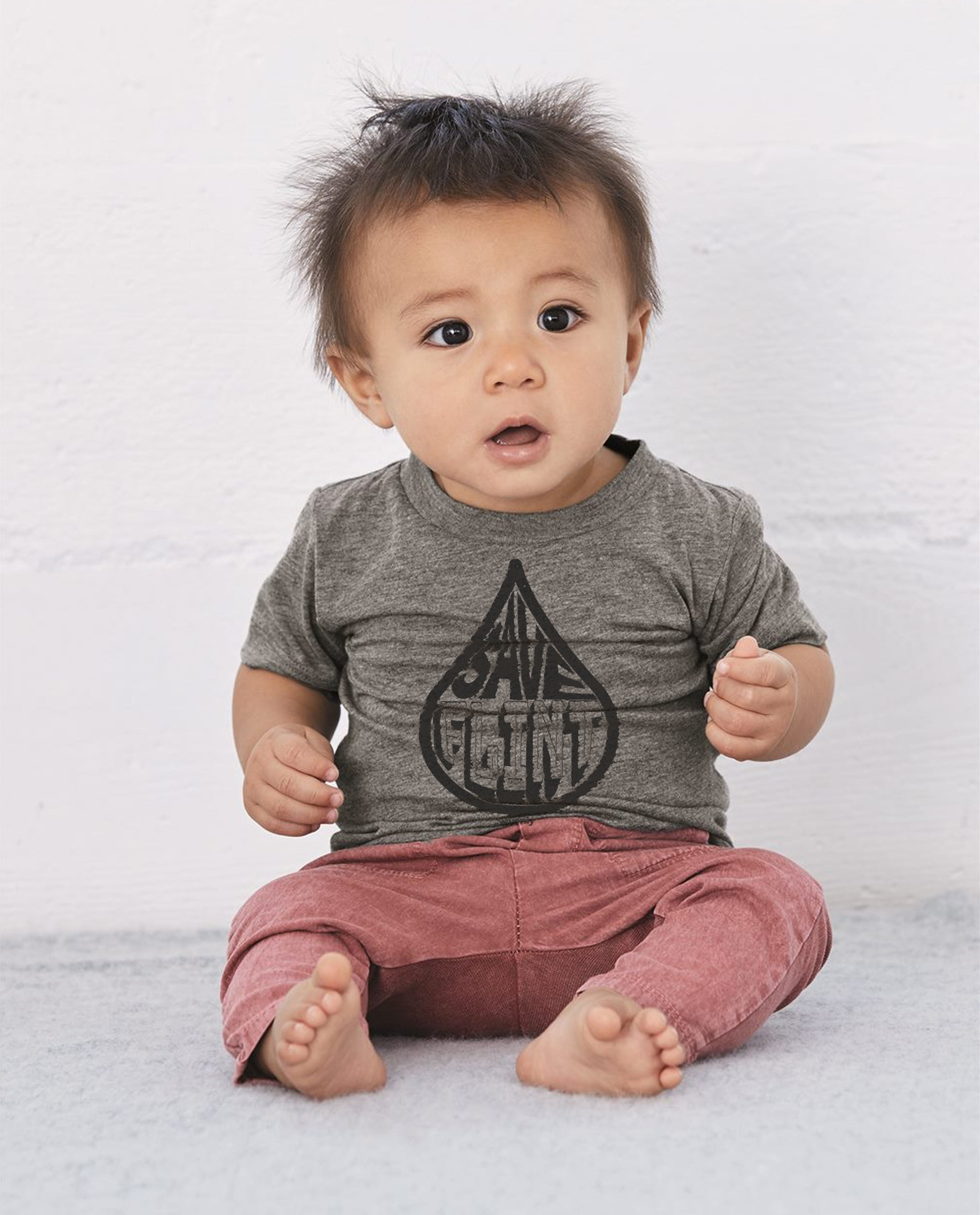 Save Flint Water - Toddler & Baby Triblend Short Sleeve Tee