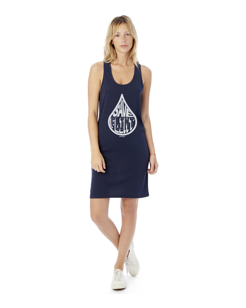 Save Flint Water - Women's Cotton Modal Jersey Tank Dress