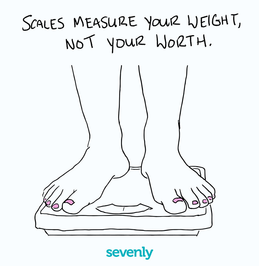 Sevenly - Wall Art - Scales Measure Weight Not Worth