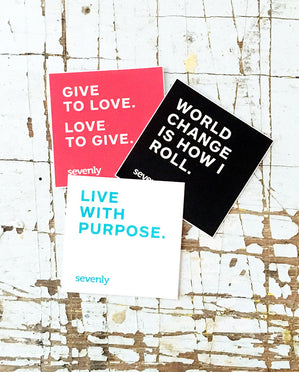 Sevenly World Changer Sticker 3-Pack