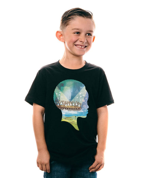 Imba Silhouette Collage Kids Tee