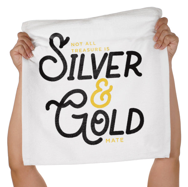 Silver & Gold Spirit Rally Towel
