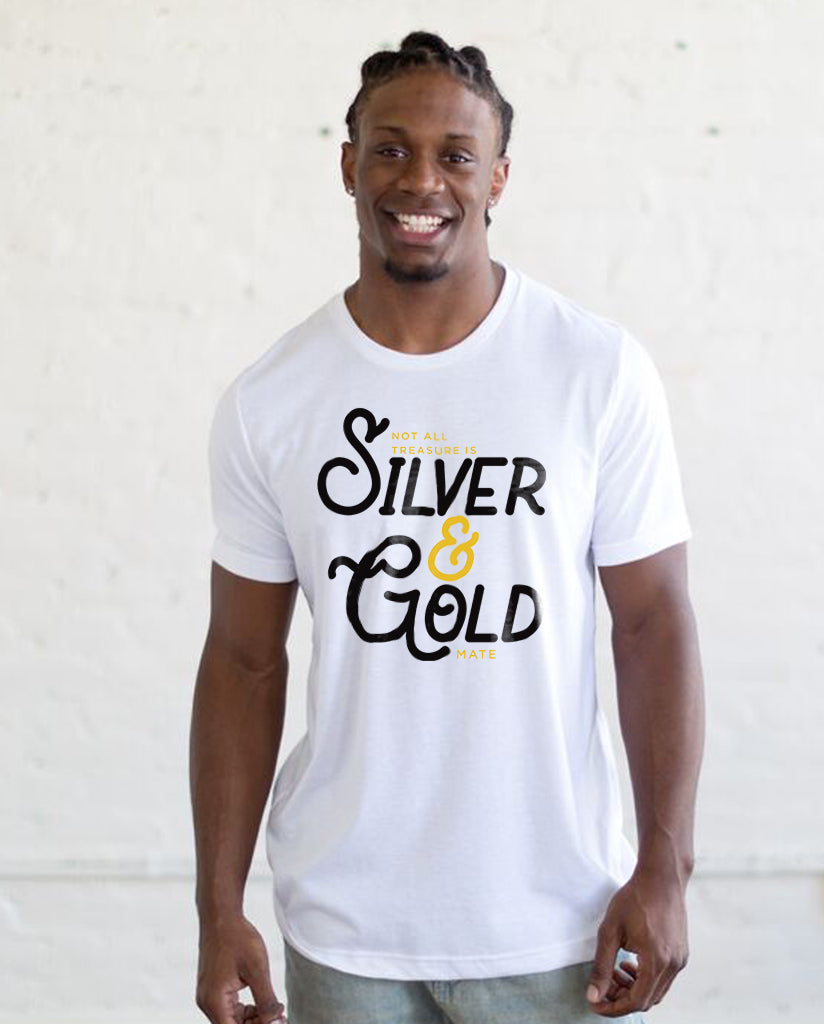 Silver And Gold Mens Premium Triblend Tee