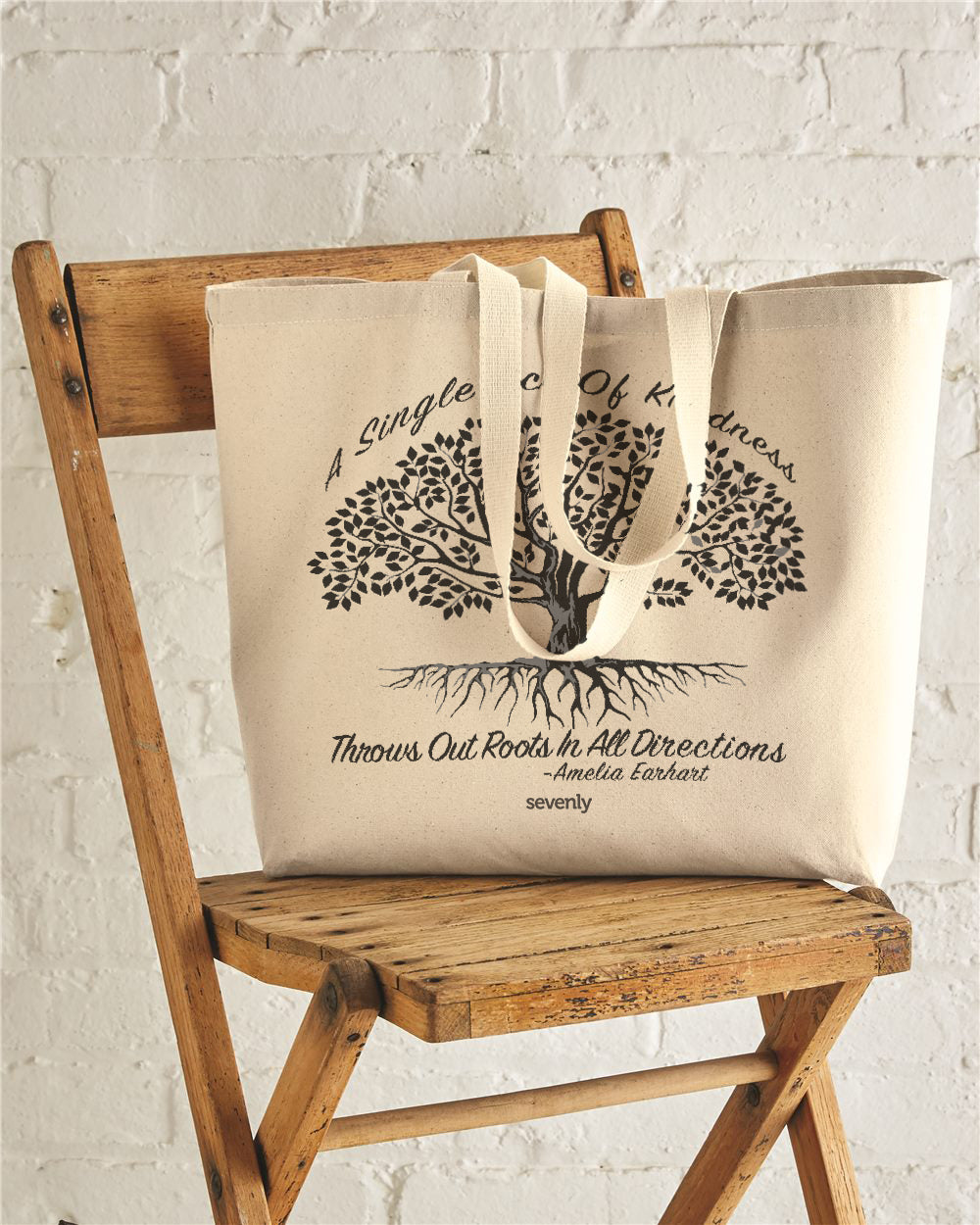 Single Act Of Kindness Jumbo Cotton Canvas Tote Bag
