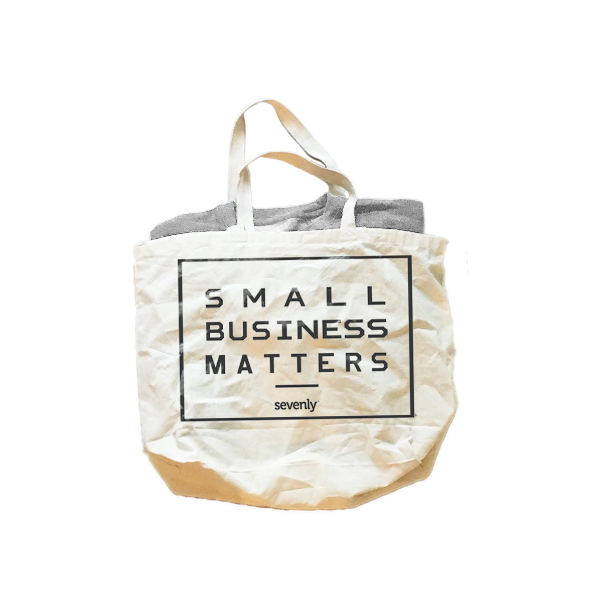 Small Business Matters Gift Set - Unisex Crewneck Sweatshirt & Jumbo Cotton Canvas Tote