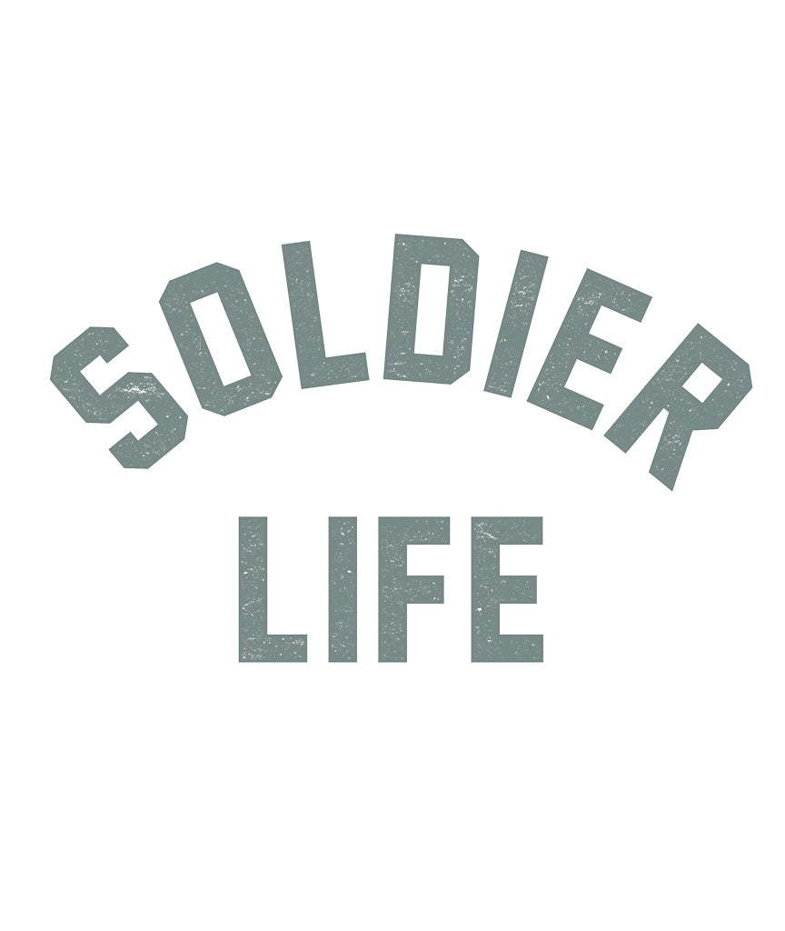 SOLDIER LIFE Unisex Green Burnout Baseball T-Shirt