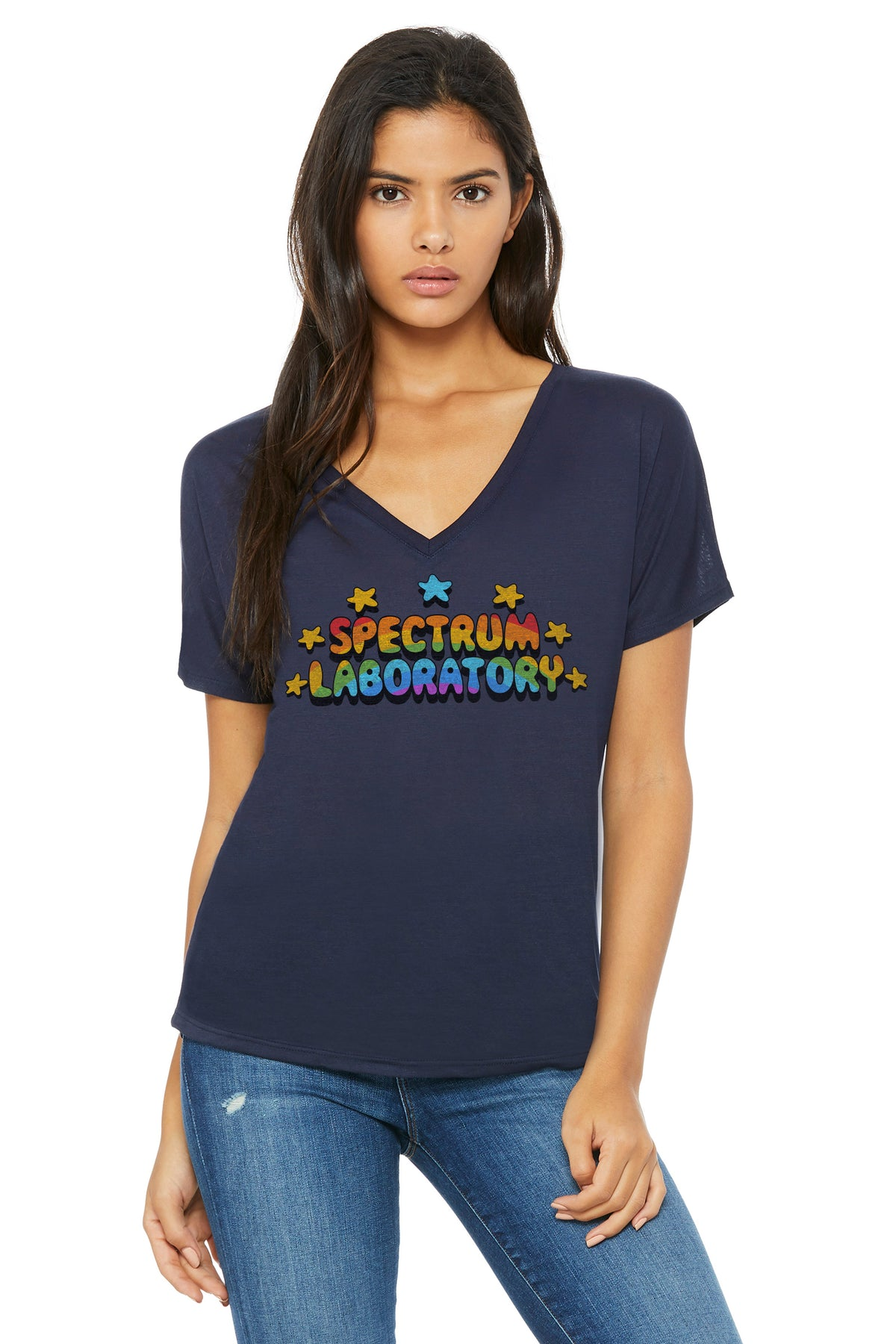 Spectrum Laboratory Logo Art Women's Flowy Vneck